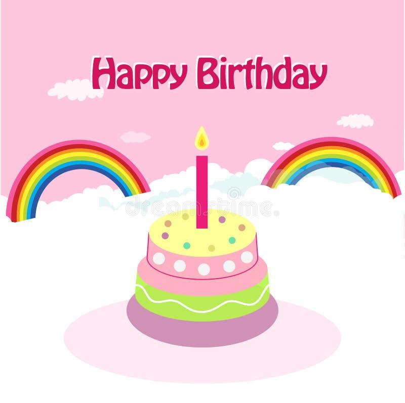 urodzinowej karty powitanie ilustracji