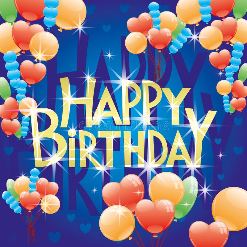urodzinowej karty powitanie szczęśliwy ilustracja wektor