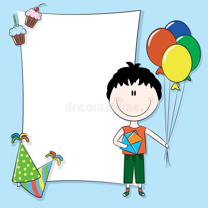 urodzinowej karty powitanie szczęśliwy royalty ilustracja