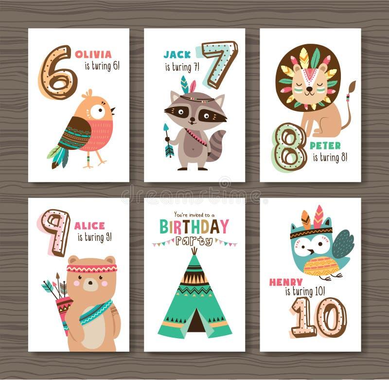 urodzinowej karty prezenta królik ilustracja wektor
