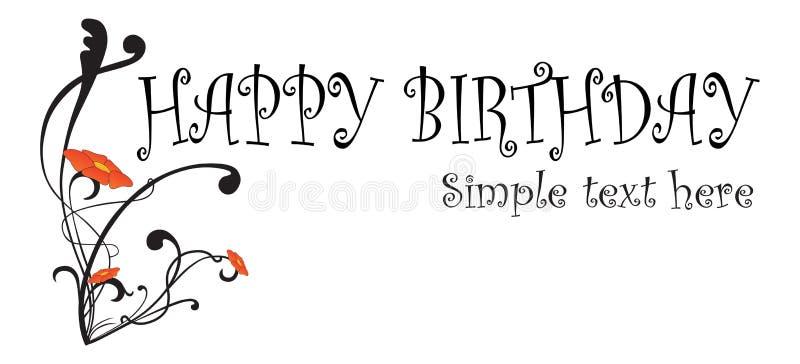 urodzinowej karty szczęśliwa poczta ilustracja wektor