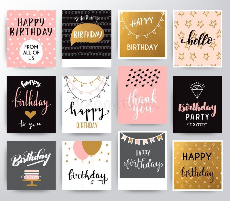 urodzinowej karty szczęśliwy wektor royalty ilustracja