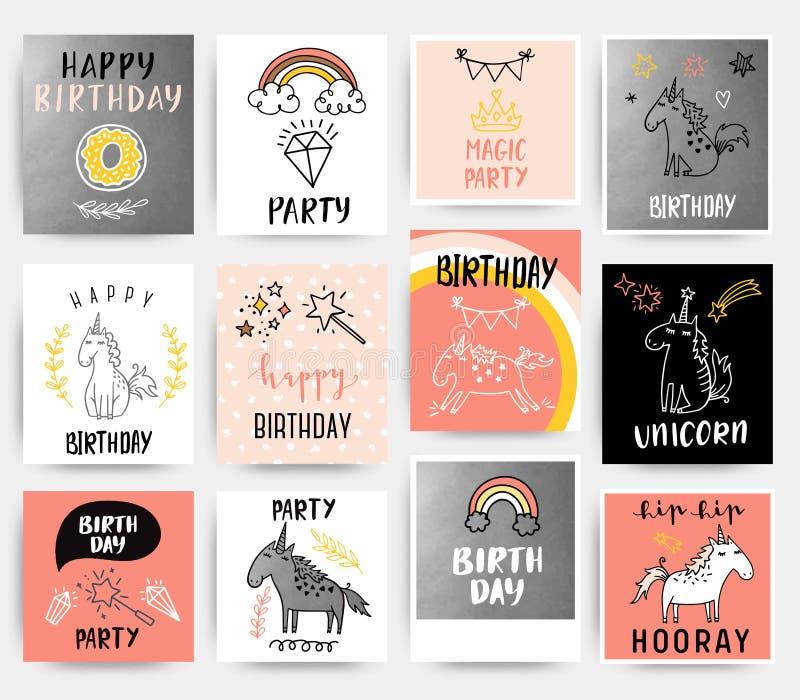 urodzinowej karty szczęśliwy wektor ilustracji