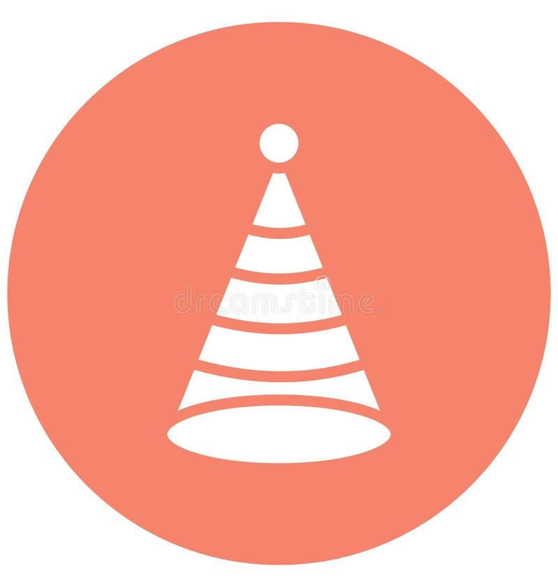 Urodzinowej nakrętki Wektorowa ikona która może łatwo redagować Urodzinowej nakrętki Wektorową ikonę lub modyfikująca która może  ilustracji