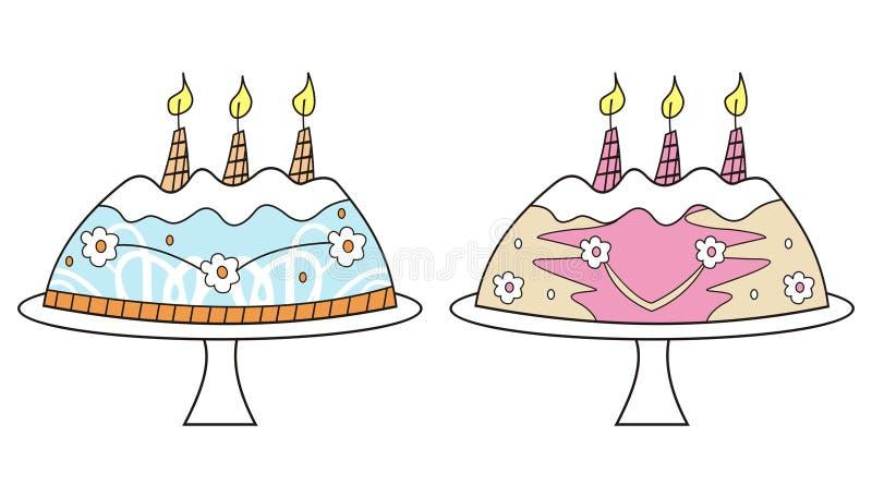 urodzinowi ciasta ilustracji