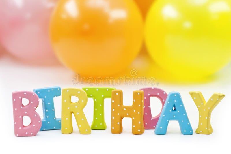 urodzinowi kolorowi listy fotografia stock