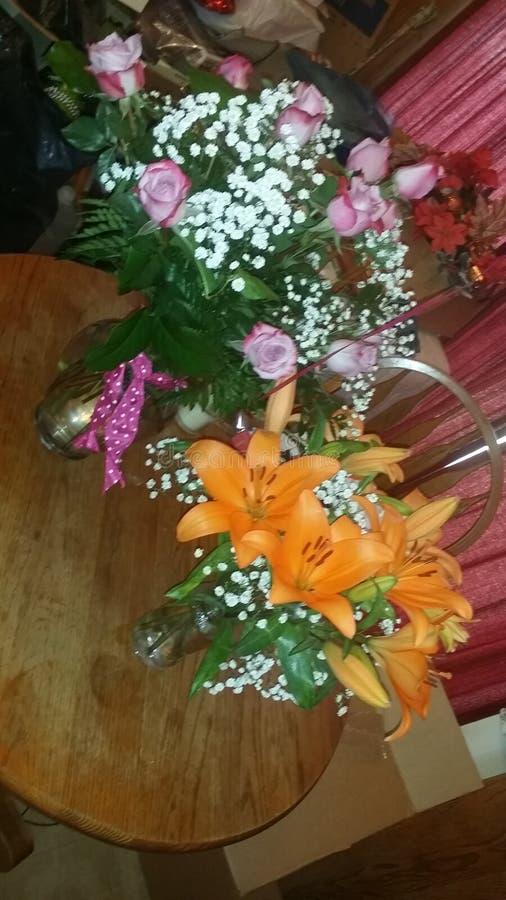 Urodzinowi kwiaty zdjęcie stock
