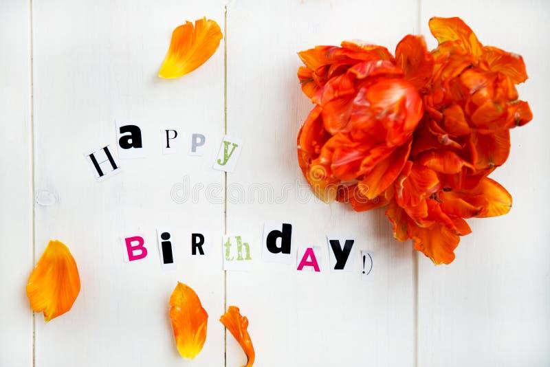 urodzinowi szczęśliwi listy obrazy royalty free