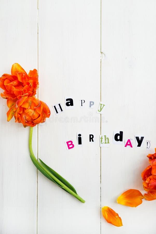 urodzinowi szczęśliwi listy obrazy stock