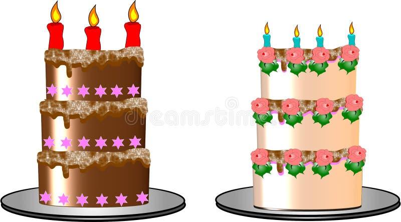 Urodzinowi torty ilustracja wektor