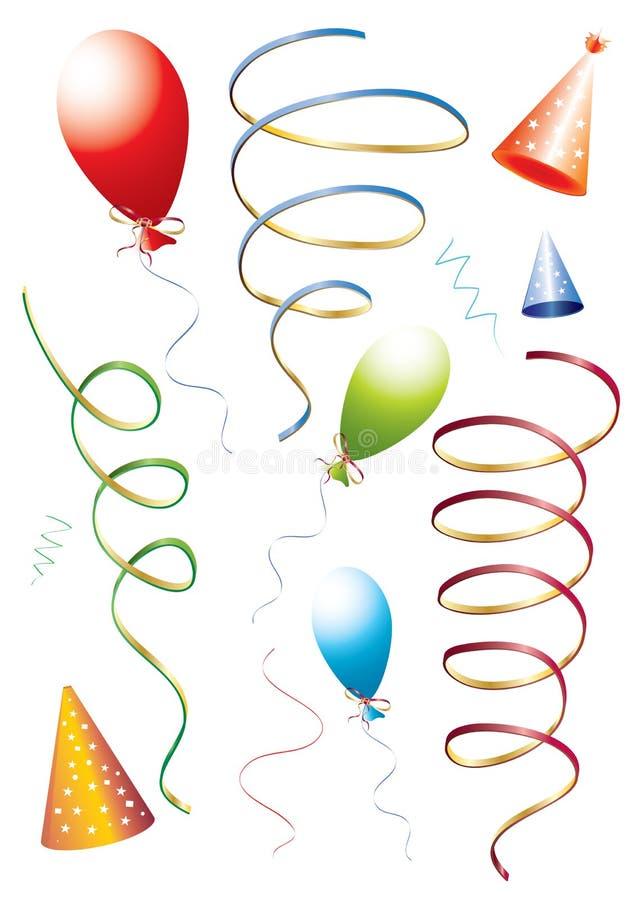 urodzinowy set royalty ilustracja