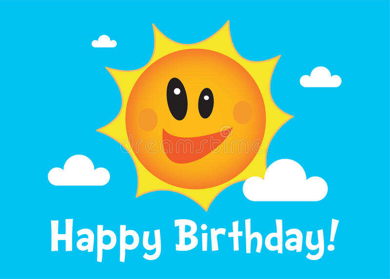 urodzinowy szczęśliwy ilustracyjny słońce ilustracja wektor