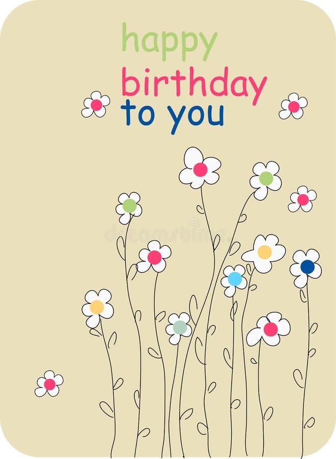 urodzinowy tło kwiat ilustracji