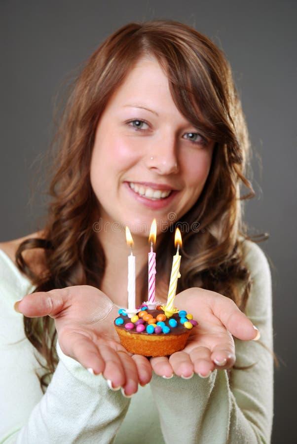 urodzinowy tort fotografia stock