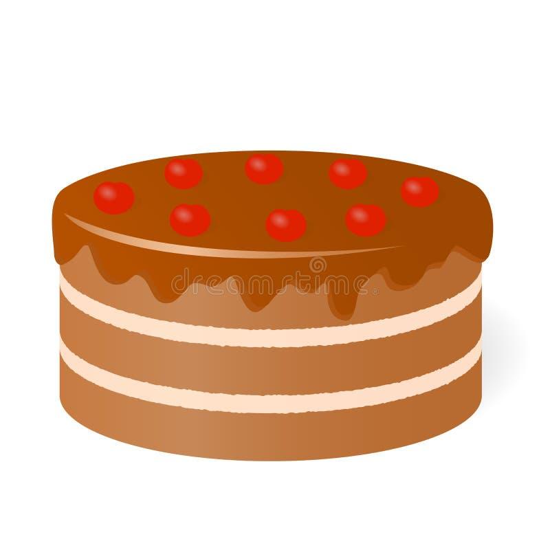 Urodzinowy tort. royalty ilustracja
