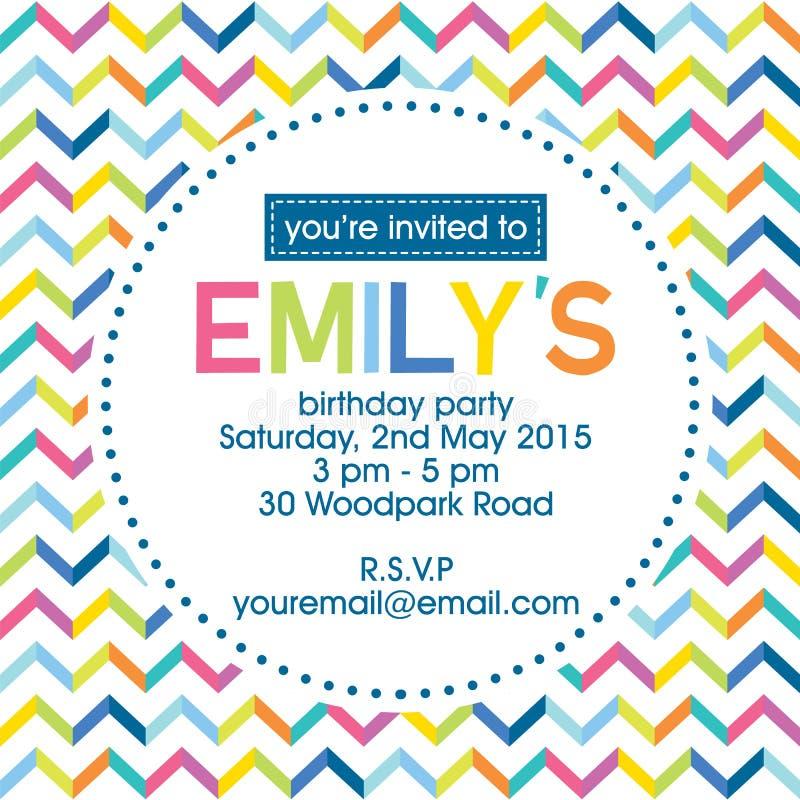 Urodzinowy zaproszenie obrazy royalty free