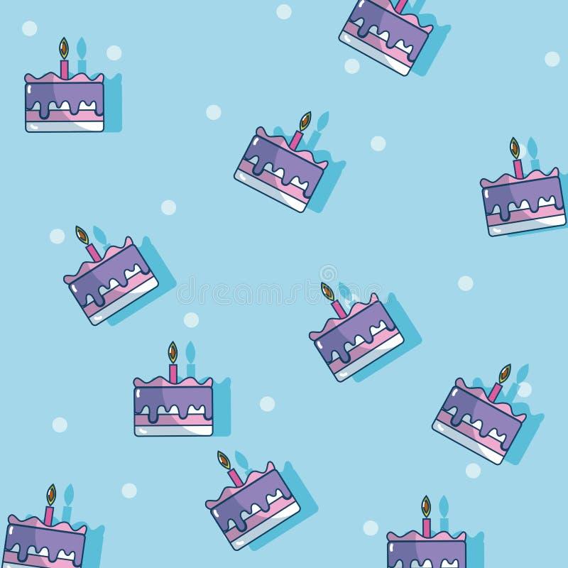 Urodzinowych tortów tło royalty ilustracja