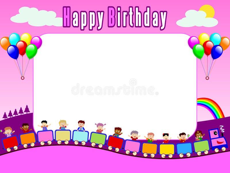 urodziny 1 ramowego zdjęcie royalty ilustracja