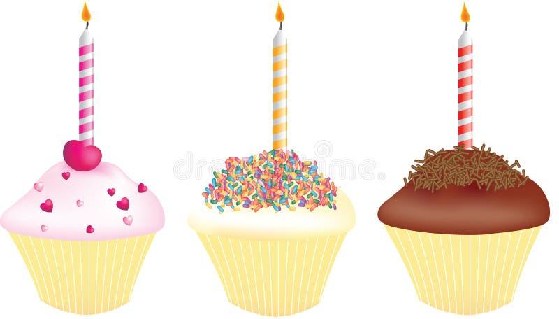 urodziny babeczki ilustracji