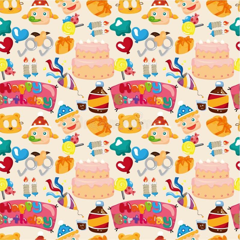 urodziny bezszwowy deseniowy royalty ilustracja