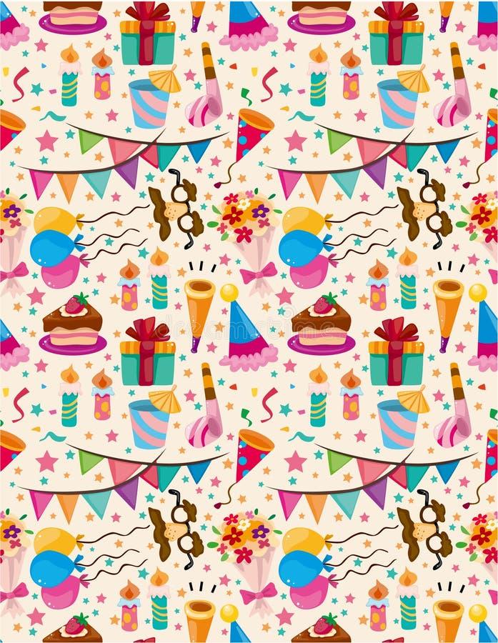 urodziny bezszwowy deseniowy ilustracja wektor