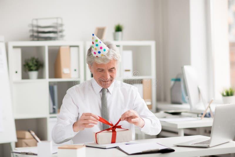 Urodziny dyrektor zdjęcie royalty free