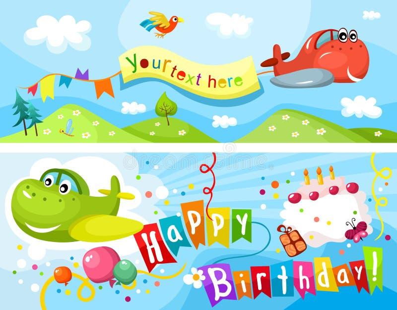 Urodziny karta ilustracji