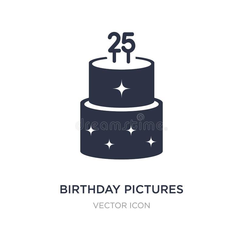 urodziny obrazuje ikonę na białym tle Prosta element ilustracja od Partyjnego pojęcia ilustracja wektor
