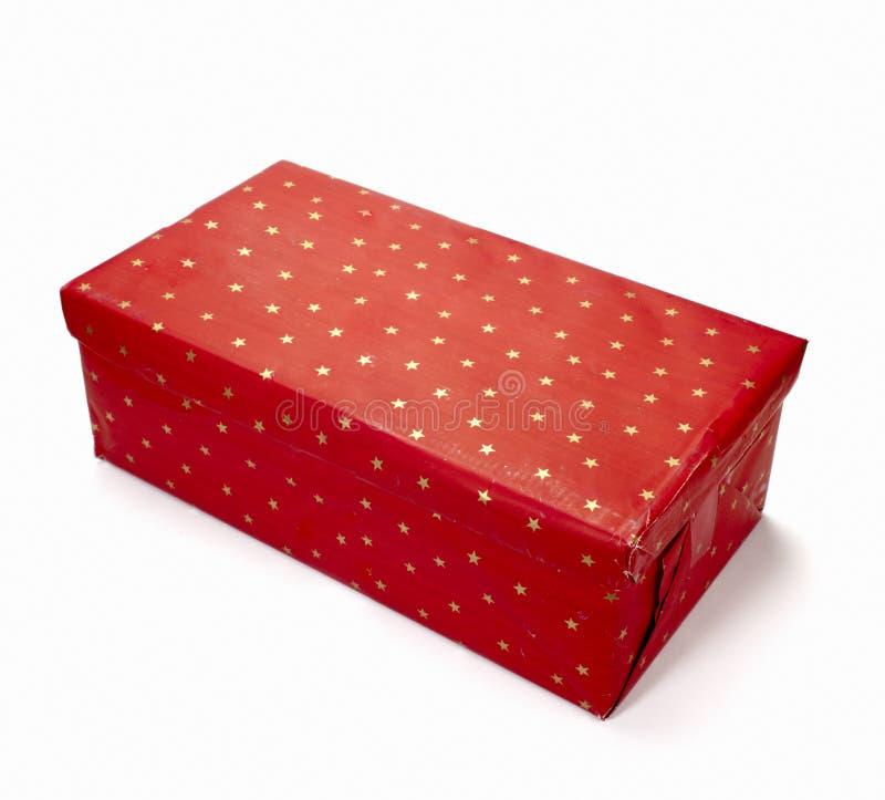 urodziny pudełkowata bożych narodzeń pakunku teraźniejszości czerwień zdjęcie stock