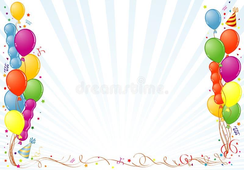urodziny rama ilustracji