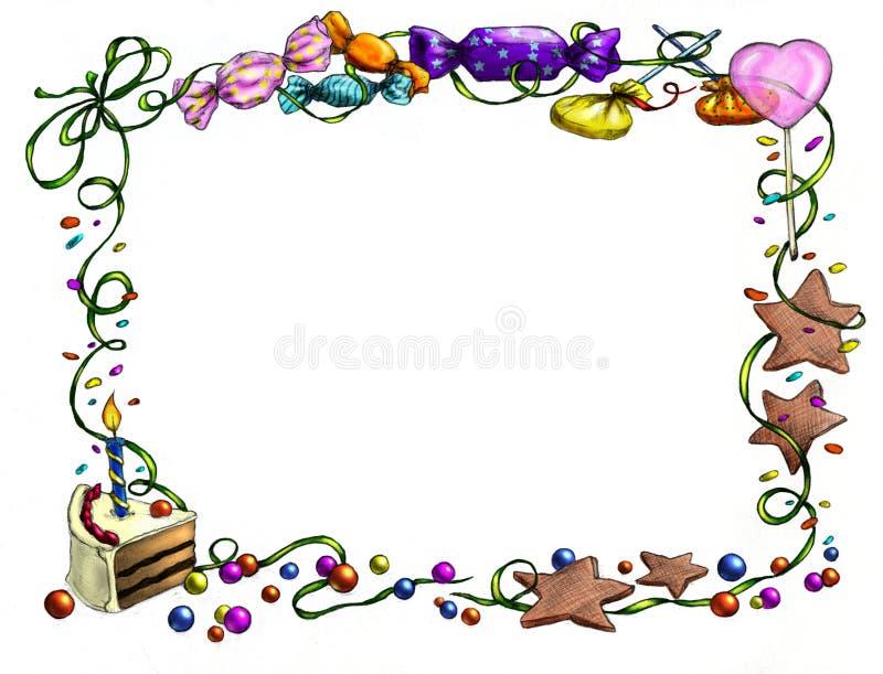 urodziny szczęśliwy ramowy royalty ilustracja