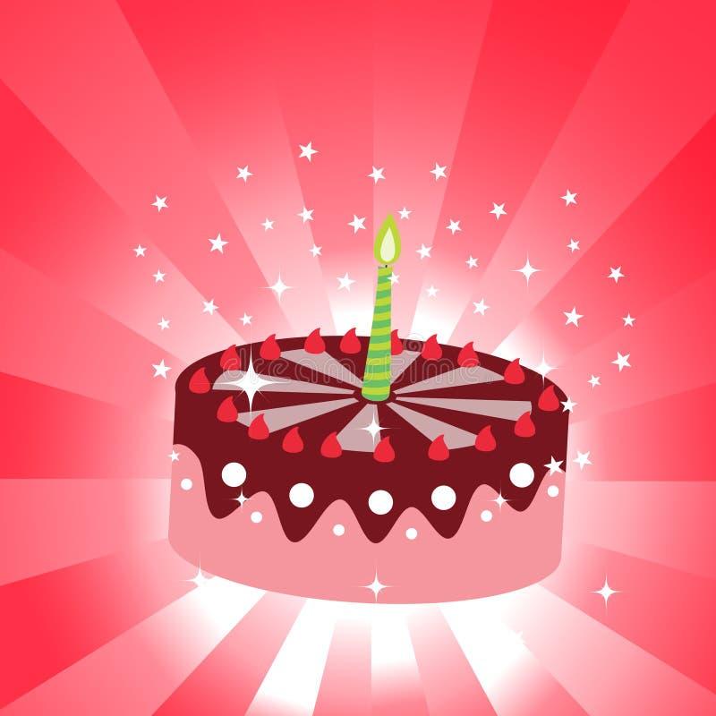 Urodziny tort ilustracja wektor