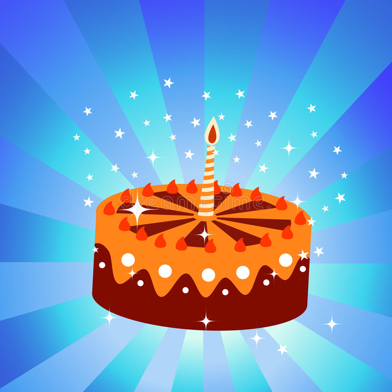 Urodziny tort royalty ilustracja