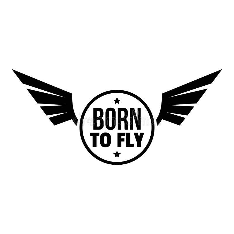 Urodzony komarnica logo, prosty styl ilustracji