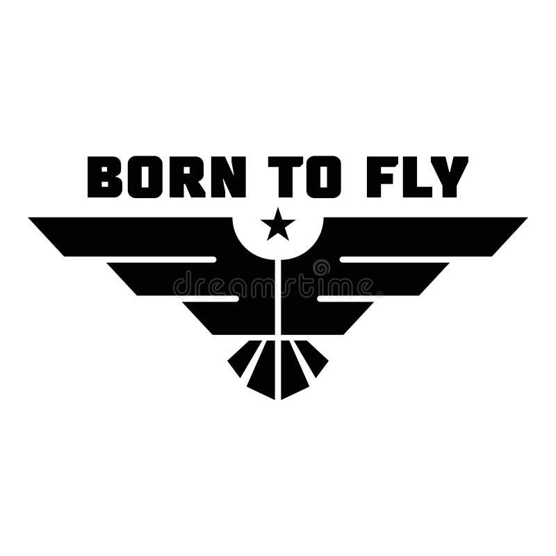Urodzony latać loga, prosty styl ilustracji