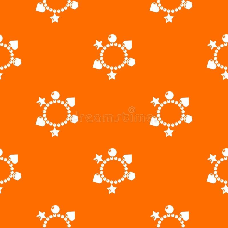 Urok bransoletki wzoru wektoru pomarańcze ilustracja wektor