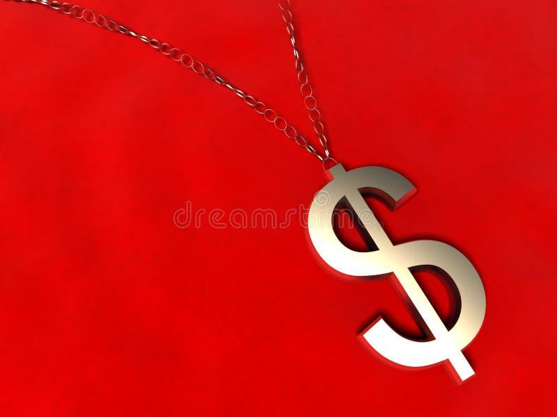 urok dolar złoty 3 d royalty ilustracja