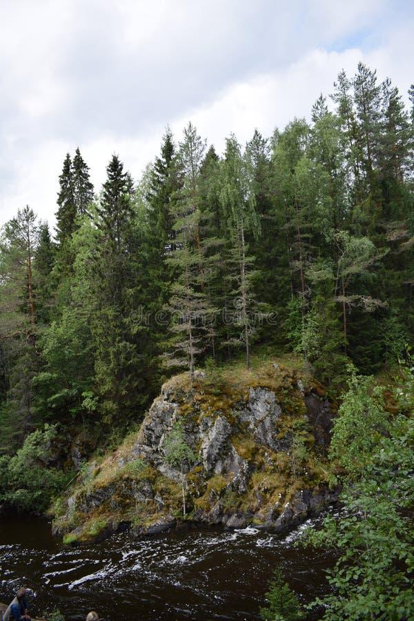 Urok Kivach Karelia zdjęcia stock