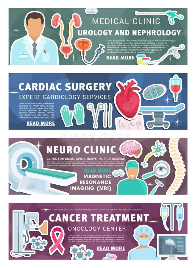 Urologoy personal för medicinsk klinik för nephrology royaltyfri illustrationer