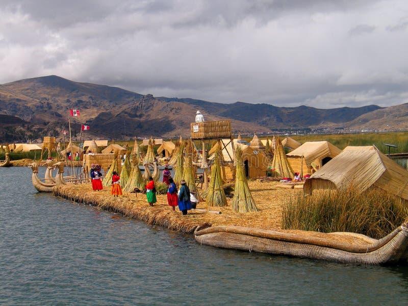 Uros-Île (Pérou) photographie stock libre de droits