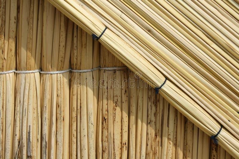 uros тростника острова дома стоковое изображение rf