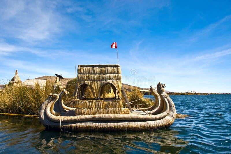 Uros Floating Islands, Perù-Bolivia fotografia stock