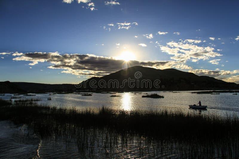 Uros Khantati Islands, el lago Titicaca, Altiplano, Perú fotos de archivo libres de regalías