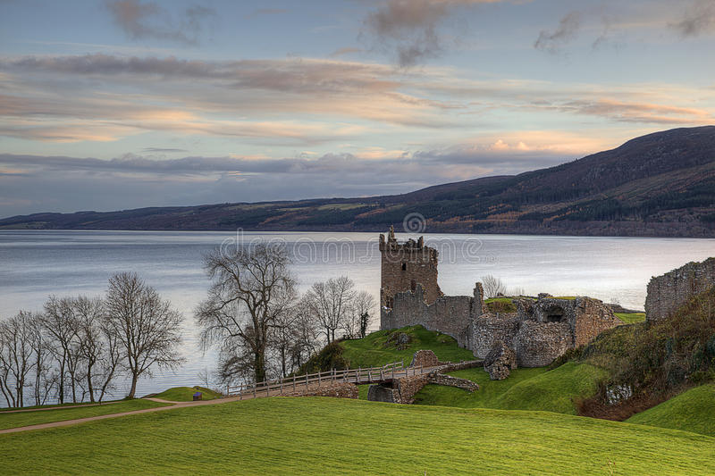 Download Urquhart  Castle And Ness Loch Stock Photo - Image: 20132840