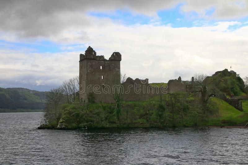 Urquhart Castle στο Λοχ Νες στοκ εικόνες