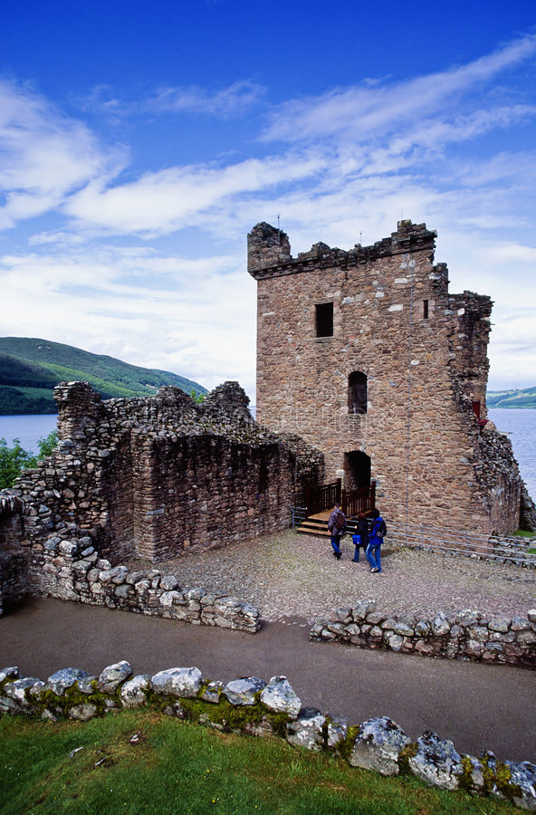 Download Urquhart Castle stock photo. Image of gable, countryside - 3936780