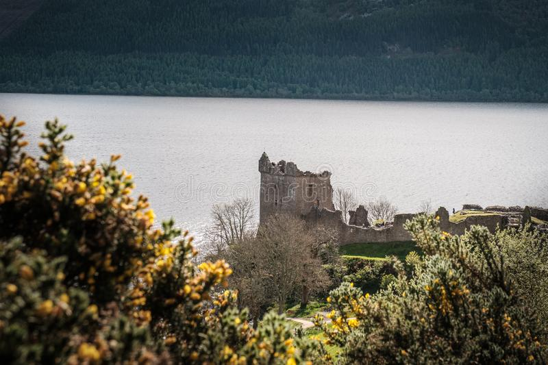Urquhart Castle on Loch Ness in Scotland royalty free stock image
