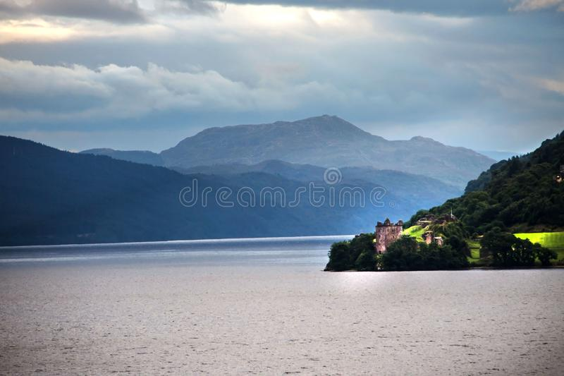 Urquhart Castle. Loch Ness, Inverness, Scotland royalty free stock photos