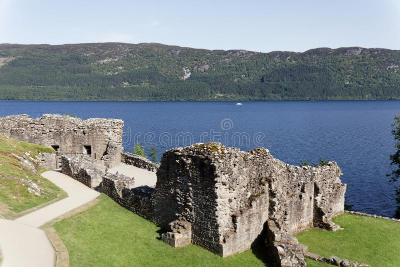 Urquhart Castle on Loch Ness - Strone, Inverness, Highlands, Scotland stock image