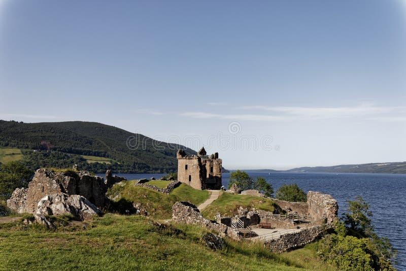 Urquhart Schloss auf Loch Ness, Schottland stockbild